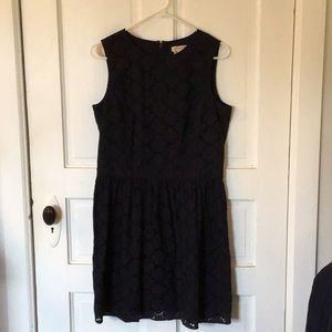 Brooks brothers red fleece navy eyelet dress 10